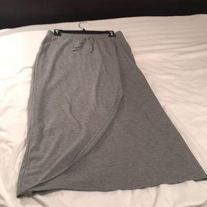Sonoma gray knit maxi casual skirt
